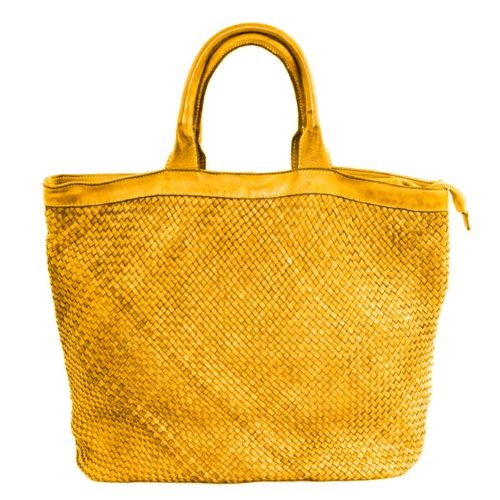 CHIARA Small Weave Tote Bag Mustard