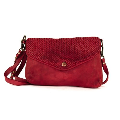 LAVINIA Envelope Clutch Bag Bordeaux