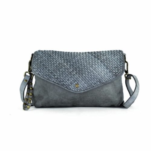 LAVINIA Envelope Clutch Bag Dark Grey