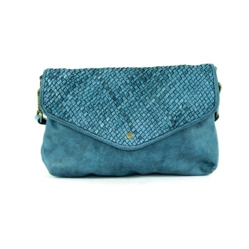 LAVINIA Envelope Clutch Bag Teal
