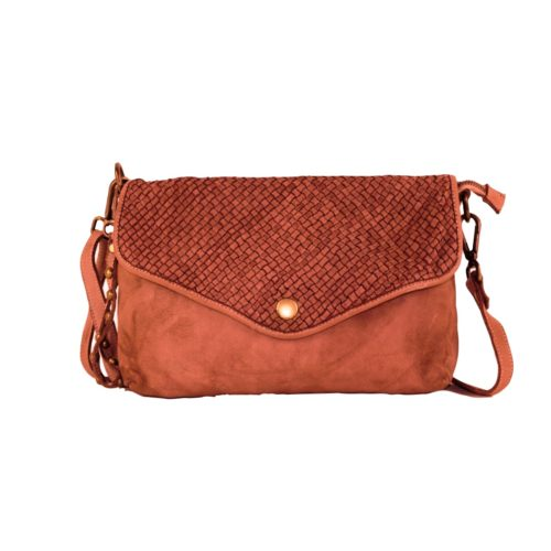 LAVINIA Envelope Clutch Bag Terracotta