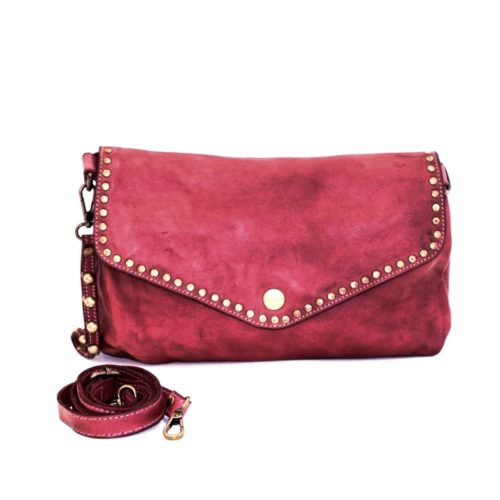 LAVINIA Studded Clutch Bag Bordeaux
