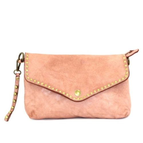 LAVINIA Studded Clutch Bag Blush