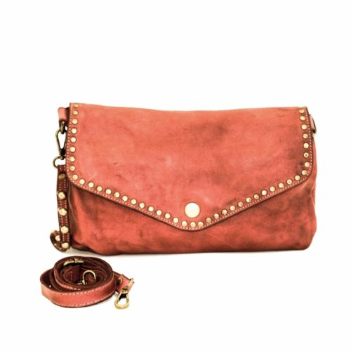 LAVINIA Studded Clutch Bag Terracotta