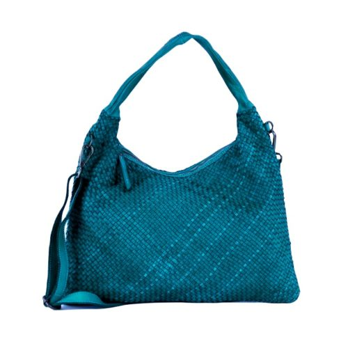 ANNA Woven Shoulder Bag Teal