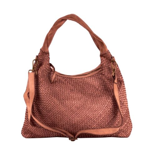 ANNA Woven Shoulder Bag Terracotta