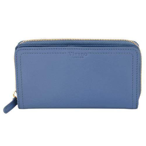 Large Bi Fold Wallet Sky Blue