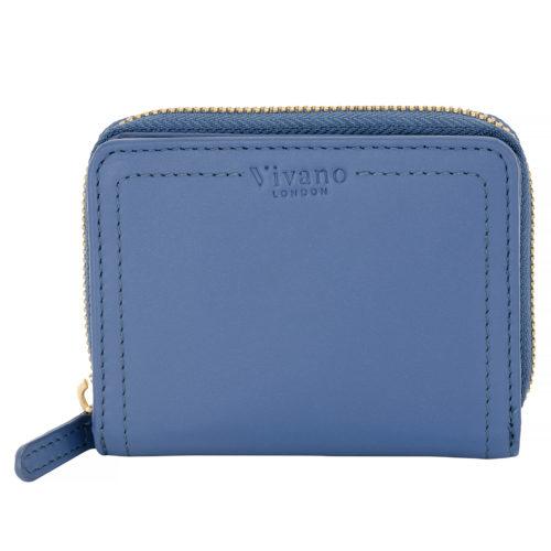 Small Bi Fold Wallet Sky Blue