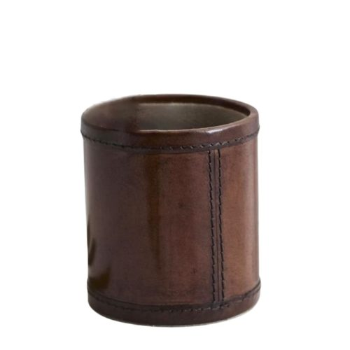 Leather Round Pen Pot