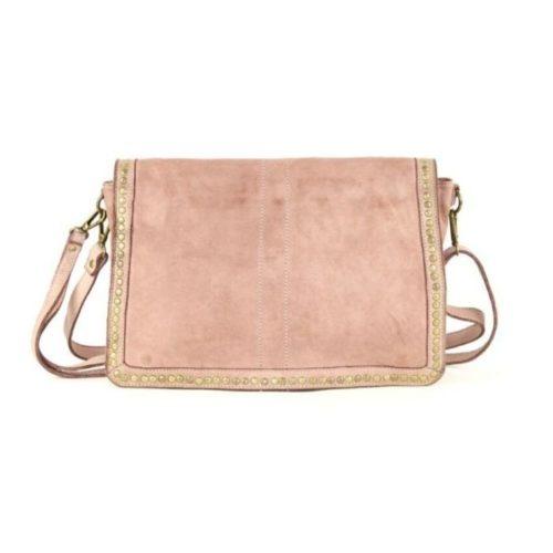SILVINA Small Cross-body Bag With Studs Blush