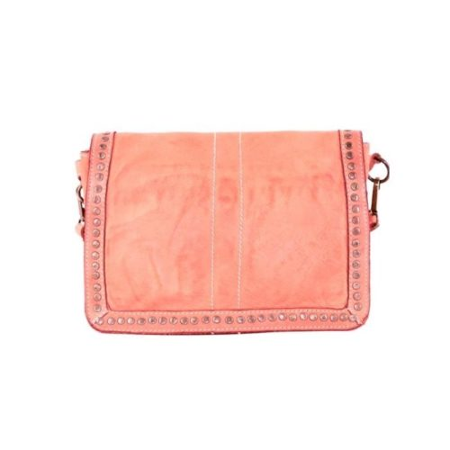 SILVINA Small Cross-body Bag With Studs Coral