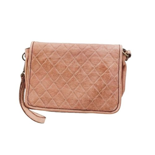 SILVINA Quilted Crossbody Bag Blush