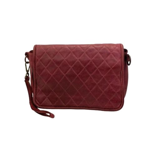 SILVINA Quilted Crossbody Bag Bordeaux