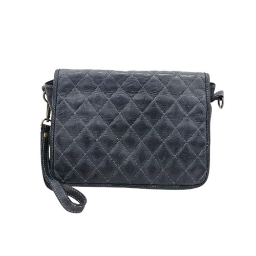 SILVINA Quilted Crossbody Bag Dark Grey