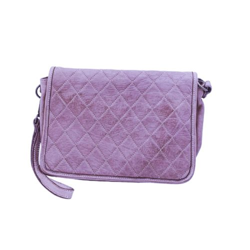 SILVINA Quilted Crossbody Bag Lilac