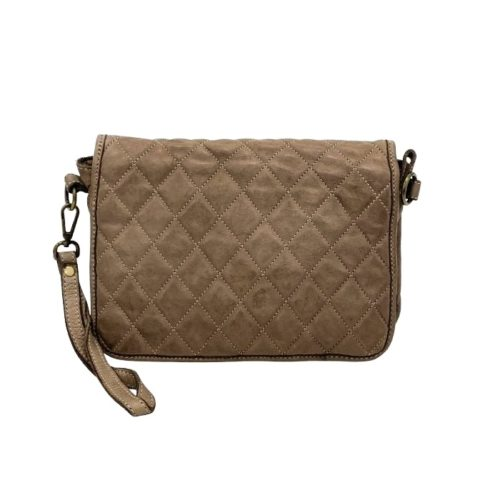 SILVINA Quilted Crossbody Bag Taupe