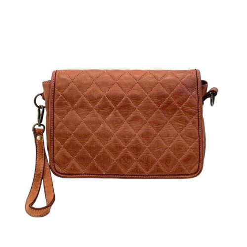 SILVINA Quilted Crossbody Bag Terracotta