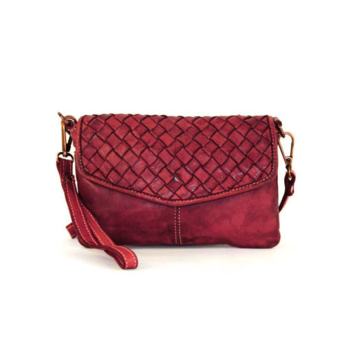 SELENE Wristlet Bag Bordeaux