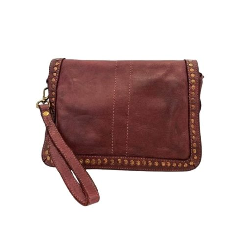 SILVINA Small Cross-body Bag With Studs Bordeaux