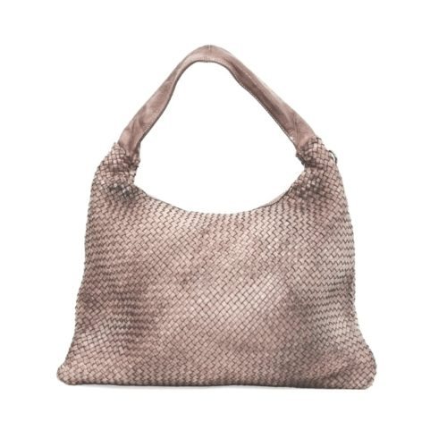 ANNA Woven Shoulder Bag Beige