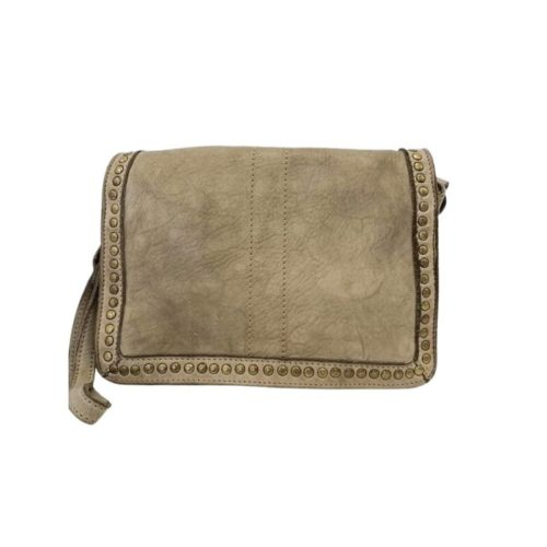SILVINA Small Cross-body Bag With Studs Light Taupe