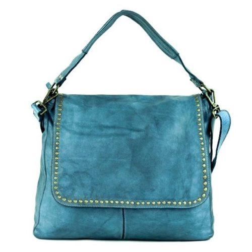 VIRGINIA Flap Bag With Top Handle Teal