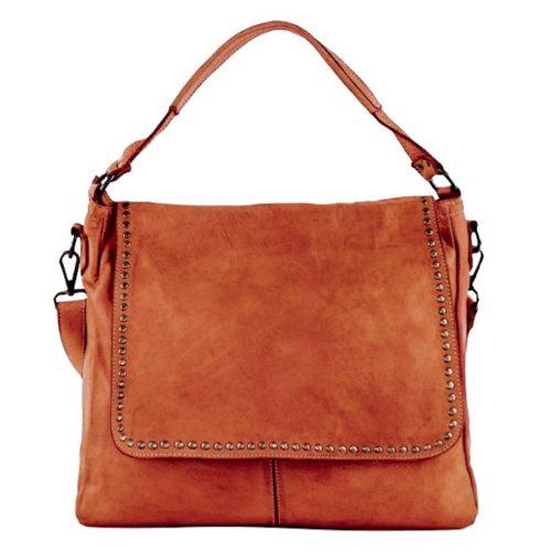 VIRGINIA Flap Bag With Top Handle Terracotta
