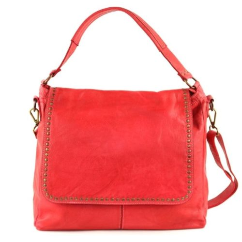 VIRGINIA Flap Bag With Top Handle Red