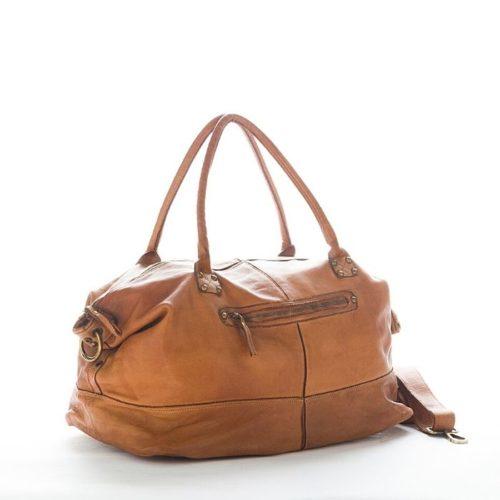 FIONA Large Duffle Weekender Travel Bag Tan