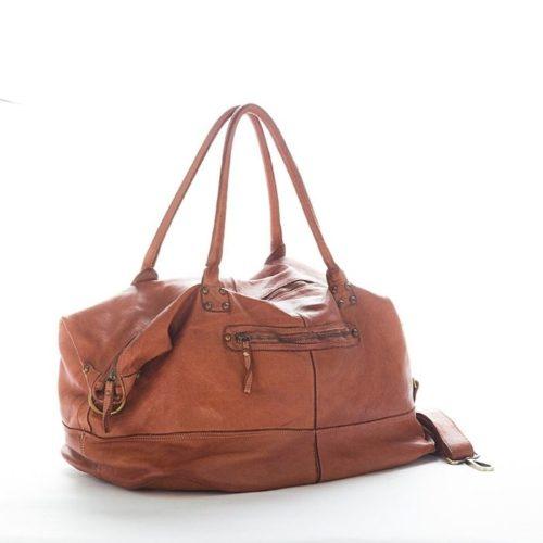 FIONA Large Duffle Weekender Travel Bag Terracotta