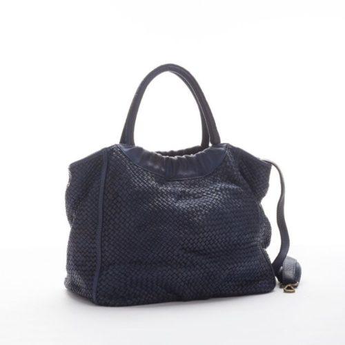 FARFALLA Woven Hand Bag Navy