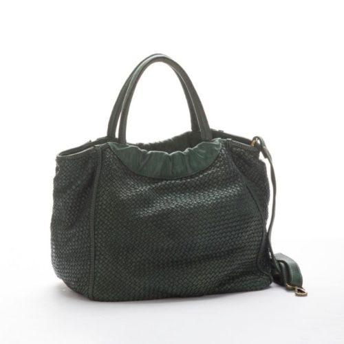 FARFALLA Woven Hand Bag Army Green