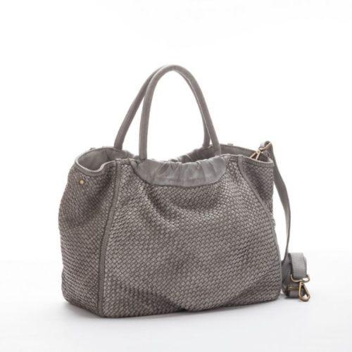 FARFALLA Woven Hand Bag Light Grey