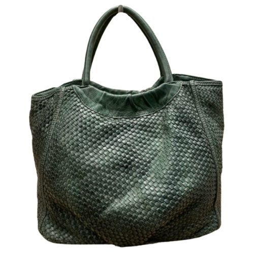 FARFALLA Woven Hand Bag Army Green
