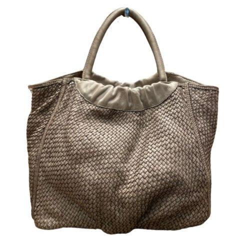 FARFALLA Woven Hand Bag Beige