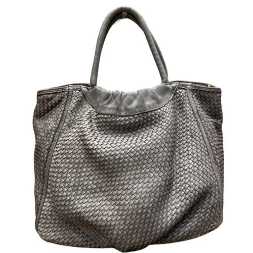 FARFALLA Woven Hand Bag Light Grey