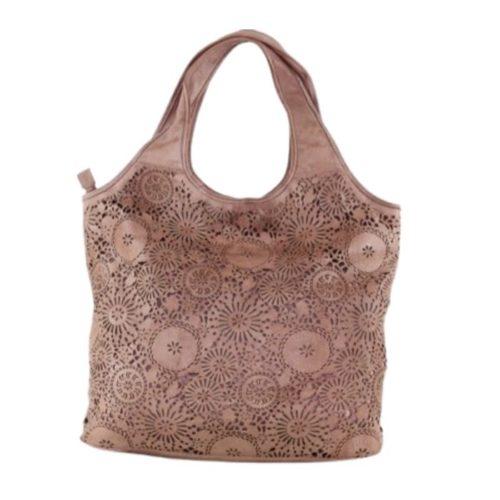 FIORELLA Shoulder Bag With Laser Cut Detail Blush