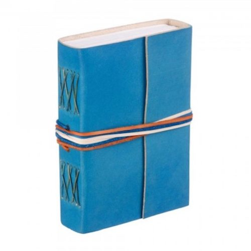 Fair Trade 3-String Leather Journal Turquoise