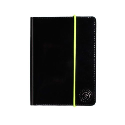 Leather Passport Holder Black Lacquer