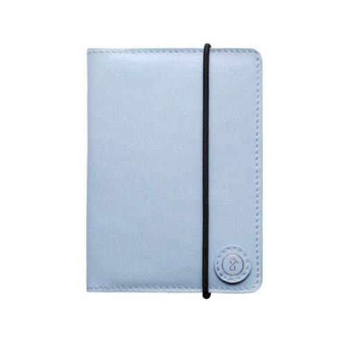 Leather Passport Holder Powder Blue