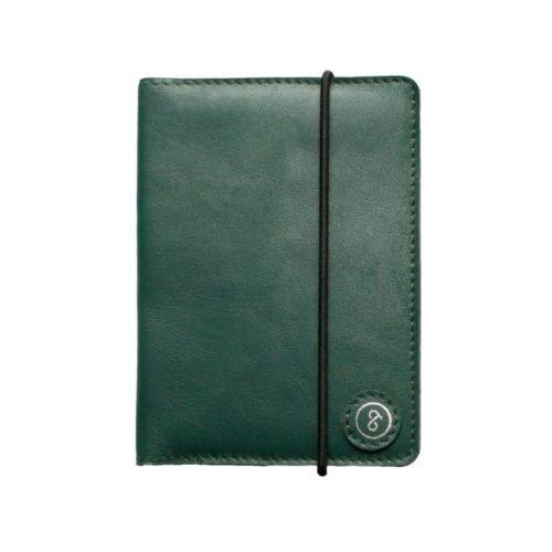 Leather Passport Holder Sea Green
