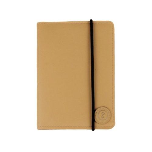 Leather Passport Holder Tan