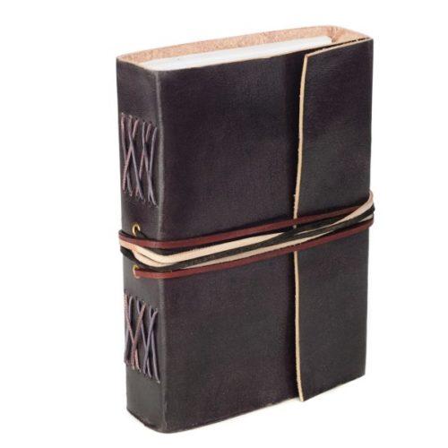 Fair Trade 3-String Leather Journal Black