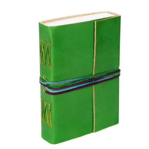 Fair Trade 3-String Leather Journal Green
