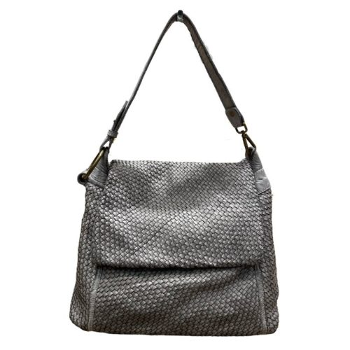 Priscilla Shoulder Bag Narrow Weave All Over Grey