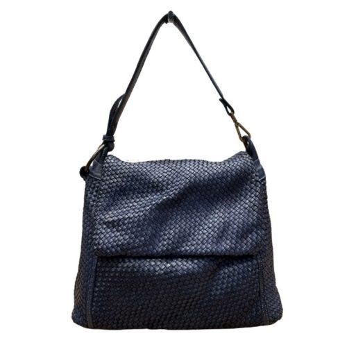 Priscilla Shoulder Bag Narrow Weave All Over Navy