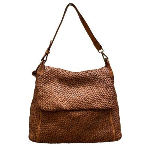 Priscilla Shoulder Bag Narrow Weave All Over Tan