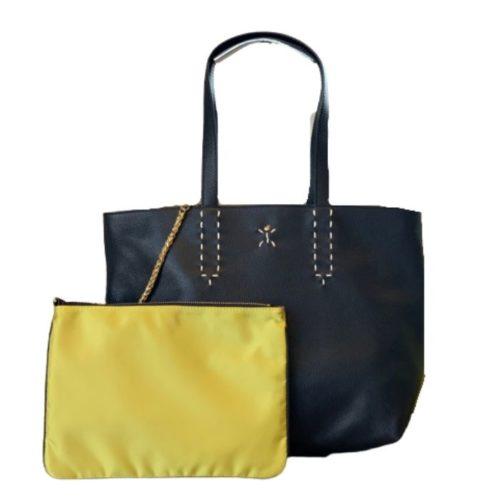 PATTY BIG Reversible Tote Bag Black/Lime