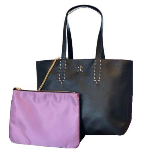 PATTY BIG Reversible Tote Bag Black/Lilac