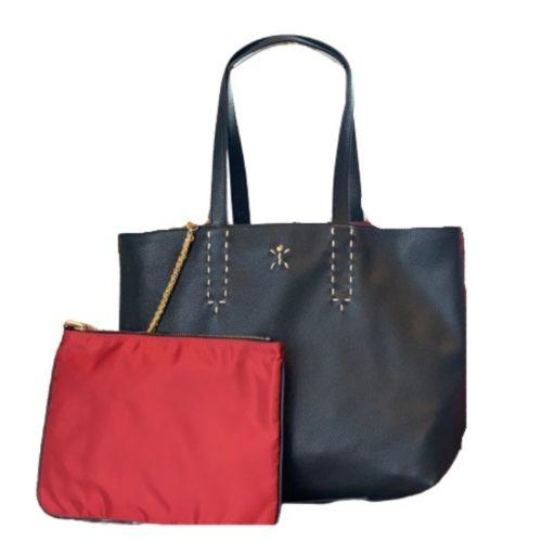 PATTY BIG Reversible Tote Bag Black/Red